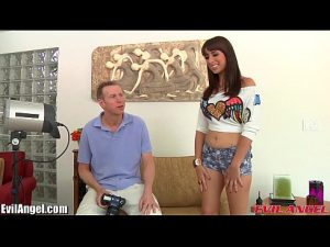 10 Min Hot Girl Teen Nails Interview By Getting Nailed Evilangel.com