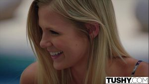12 Min Scarlet Red On Pool First Anal For Blonde Tushy Movie Premium Porn Video